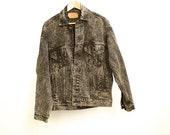 vintage levi's men's small ACID WASH black and white classic LEVIS denim cotton jacket