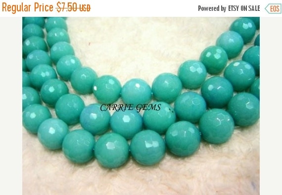 20% OFF ON SALE Green Quartz 14mm Faceted Round Beads