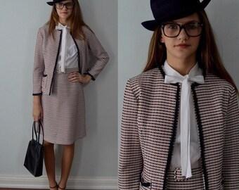 Vintage Dress, Vintage Dress Suit, Dress Suit, Vintage Dress, Casual Dress, 1970s, Secretary Dress Suit, Office, Vintage Suit