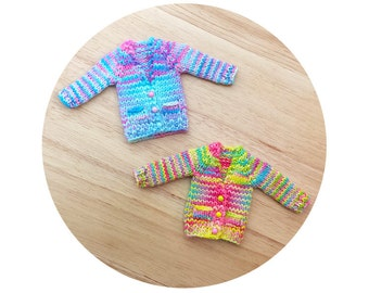 Blythe OOAK Hand Dye Boyfriend Cardigan Sweater