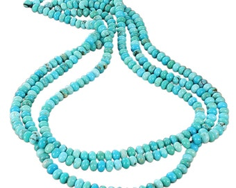 MEXICAN CAMPITOS TURQUOISE Beads Rondelles 6.3mm New World Gems