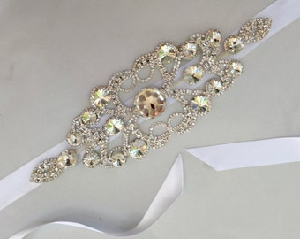 Bridal Sash, Wedding Sash, Bridal Belt, Wedding Belt, Rhinestone Sash, Rhinestone Belt, Beaded Sash, Beaded Belt, Crystal Sash, Crystal Belt