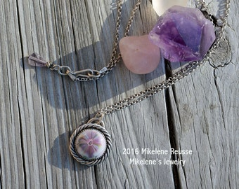 SALE : Clearance ...Petite Bloom Necklace .... sterling silver Pendant- NECKLACE contemporary METALSMITH Artisan jewelry by Mikelene