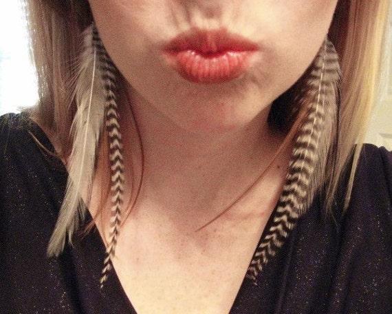 Long Tribal Earrings Women - Long Feather Earrings - Indian Costume - Tribal Jewelry - Native American Style - Big Bohemian Earrings Natural