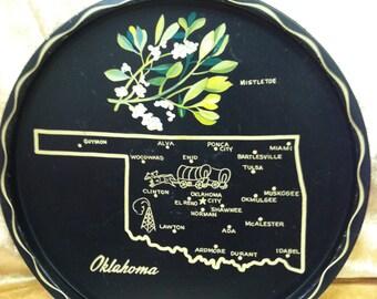 Oklahoma State Souvenir Tray