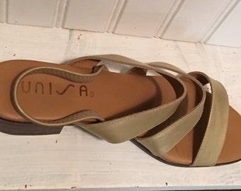 Unisa Gold Summer Sandals Size 7 1/2