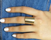 gold ring, tube ring, wide band, wide band ring, wide gold band, gold cuff ring, gold wide ring, gold band ring, band ring, modern ring