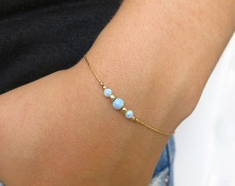 gold bracelet, opal bracelet, delicate bracelet, opal, opal gold bracelet, beach bracelet, tiny bracelet, stone bracelet, silver bracelet