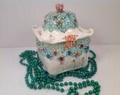 Ceramic box/Millefiore/tea box/kitchen canister/sugar bowl/millfiore/lidded box/kitchen storage/kitchen canister