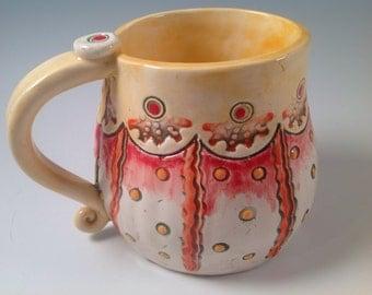 Coffee mug/mug/yellow mug/pottery mug/ceramic mug/handmade mug