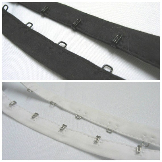 1 yd Hook and eye tape - STYLE B black or white