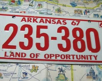 Vintage Bicycle License Plate Arkansas State Mini Cereal Premium Metal