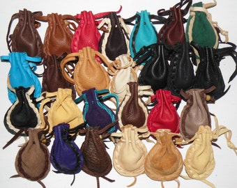 Free shipping on 5 or more Pocket pouches medicine bag assorted colors drawstring