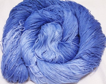hand dyed thread 150 yards  1 ball  color blue lagoon cotton crochet  size 10  crocheting, embroidery, knitting, tatting supplies
