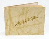 Autographs Book School Day Memories Graduate Inscriptions Year Book Dedications Unused Vintage Album