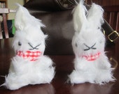 2 Plush Baby Rabbits