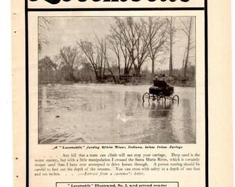 TWO (2) Vintage Locomobile Ads - 1900 McClure's Magazine - ORIGINAL ADS