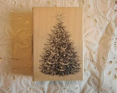 Christmas Tree Rubber Stamp - only used once