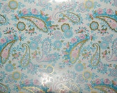 """French Old Stock, Department Store Wrapping Paper ~ """"French Paisley"""" by Familyline Inc. ~ approx. 129 yards"""