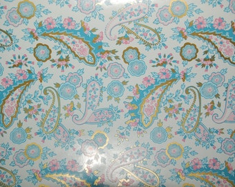 """French New Old Stock, Department Store Wrapping Paper ~ """"French Paisley"""" by Familyline Inc. ~ approx. 129 yards"""