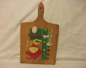 Vintage Wooden Cutting Board - Kitchen Wall Decor - Kitsch