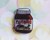 Nutella pin, brooch