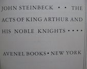 JOHN STEINBECK, Vintage Book, The Acts of King Arthur and His Noble Knights, Avenel Books, 1976
