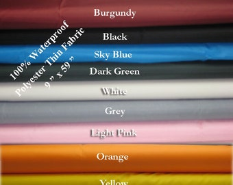Thin Waterproof Fabric great for sewing machine or equipment covers, outside furniture cover, bag lining, pet tents