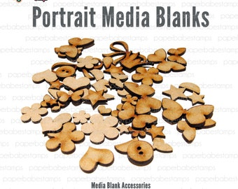 Mixed Media Blanks ~ Accessories Kit ~ Paperbabe Stamps ~ MDF Substrate for mixed media and craft.