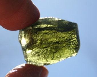 Large Moldavite Green Meteorite Stone Specimen A Grade 17 grams