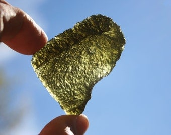 Moldavite Green Meteorite Stone Grade AA Specimen