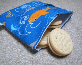 Reusable Snack Bag - Sharks