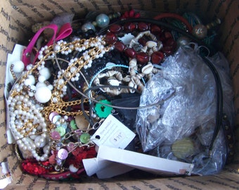 10+ lbs of Jewelry- wearable - Pieces Parts Wear