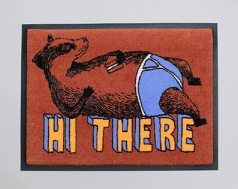 Badger Welcome Mat