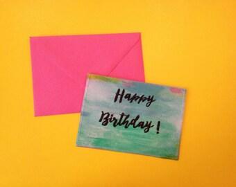 Birthday card embroidery