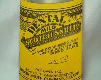 Vintage Dental Mild  Scotch Snuff Booklet Advertisement.