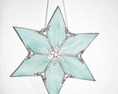 Lt. Green Streaky Glass 6 point star