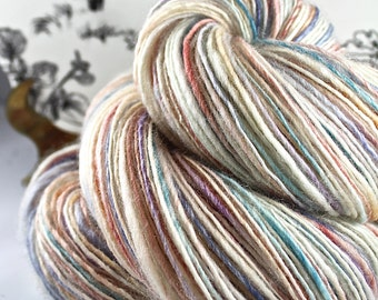 Handspun Yarn Gently Thick and Thin Single Superwash Blue Faced Leicester Sweet Georgia 'Gelato'
