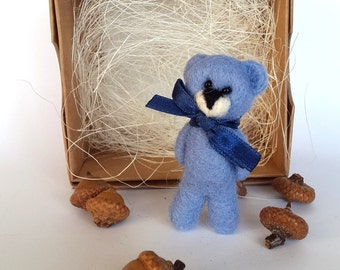 Bear Brooch/Needle Felted Bear Pin/Gift For Boys