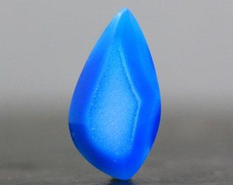 Designer Blue Quartz Crystal Druzy Stone Bezel Edge Flat Back Gemstone for Jewelers Polished Gemstone Wire Wrapping and Beading (11916)