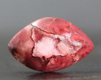 Geode Crystal Natural Specimen, Hand Polished Stone - Quartz Druzy Gem, Drusy Gemstone Cabochon Designers Collectors Artisans (20014)