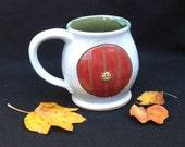Hobbit Door mug, 16 ounces, red door
