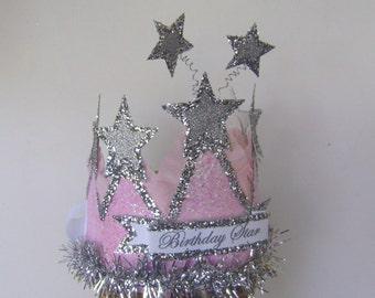 Birthday Crown -  Birthday Star or customize, Girls Birthday