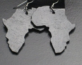 Wood Africa Earrings