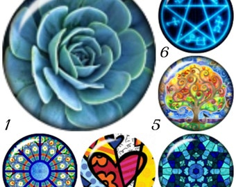 Mini snap charms for your Petite Ginger Snaps Jewelry and other 12 mm Snap Jewelry. Mandala style mini snap buttons