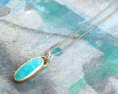 Turquoise Necklace , Genuine Turquoise Necklace , Turquoise and Gold Necklace , Genuine Turquoise Jewelry Gold - one of a kind ready to ship