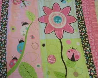 Lady Bug and Flower Quilt