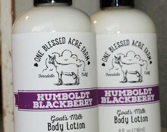 Goat Milk Lotion - Humboldt Blackberry - 8 oz.