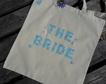 Fabric personalised custom Hen Party / Baby Shower bag, vintage, floral