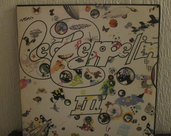 Le Zeppelin vinyl - Led Zeppelin III  - Original 1841 Broadway Label - Vintage Record lp in EX  Condition.